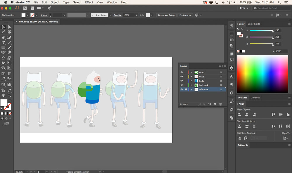 Animating a Simple 2D Character Walk Cycle in After Effects -